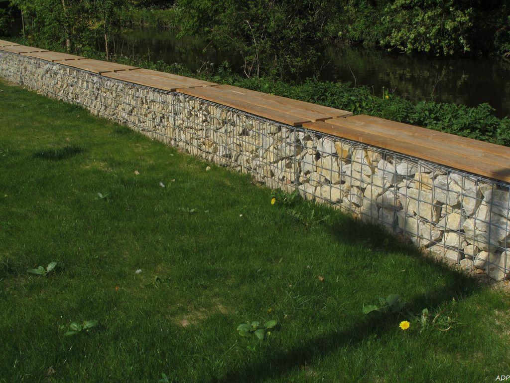 Gabion mur de pierre l 39 art du paysage for Comment installer des gabions