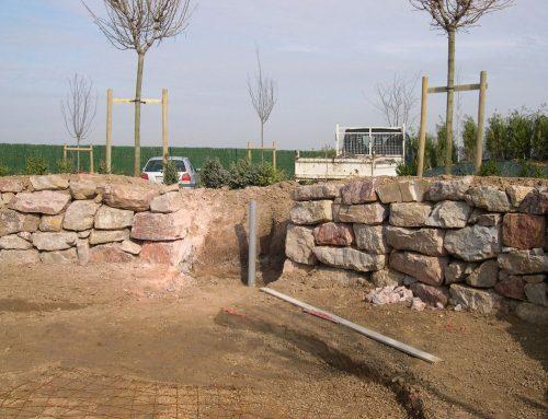 Gabion, mur de pierre